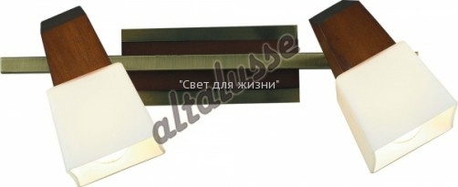 Спот ALTALUSSE INL-9283W-02 Antique brass & Walnut